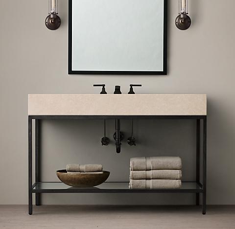 Bathroom Accessories Restoration Hardware hudson bath collection - aged steel | rh