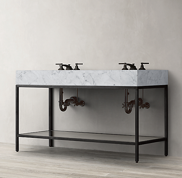 Hudson Metal Double Washstand