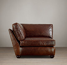 Classic Lancaster Leather Corner Chair