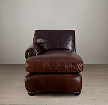 Classic Lancaster Leather Left-Arm Chaise