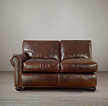 Classic Lancaster Leather Left-Arm Sofa