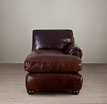 Classic Lancaster Leather Right-Arm Chaise