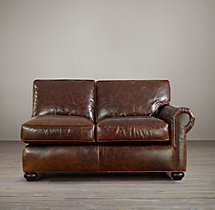 Classic Lancaster Leather Right-Arm Sofa