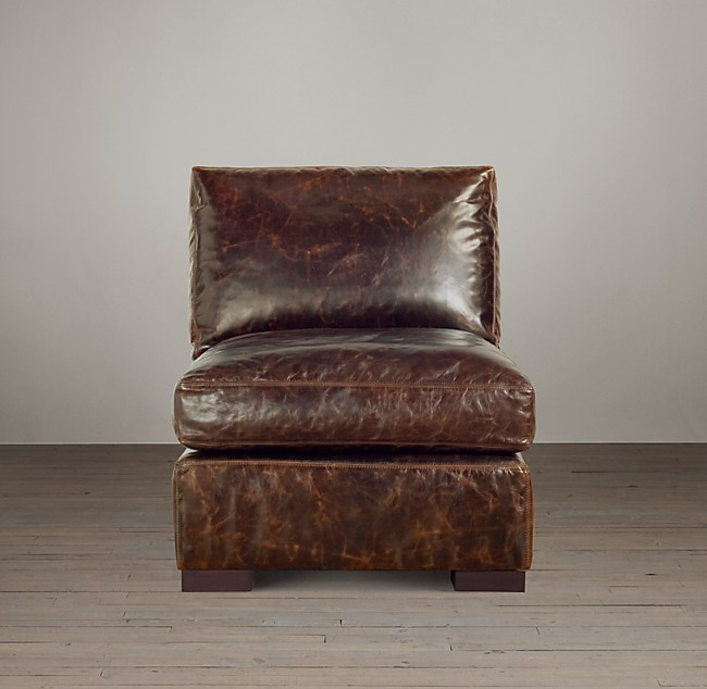Maxwell Leather Armless Chair
