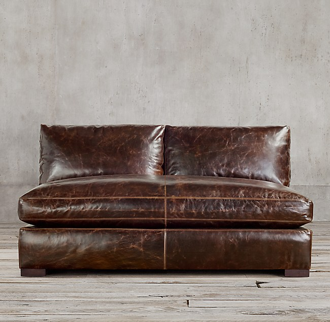 Maxwell Leather Armless Sofa