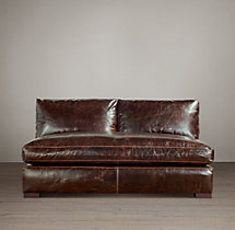 Maxwell Leather Armless Sofa