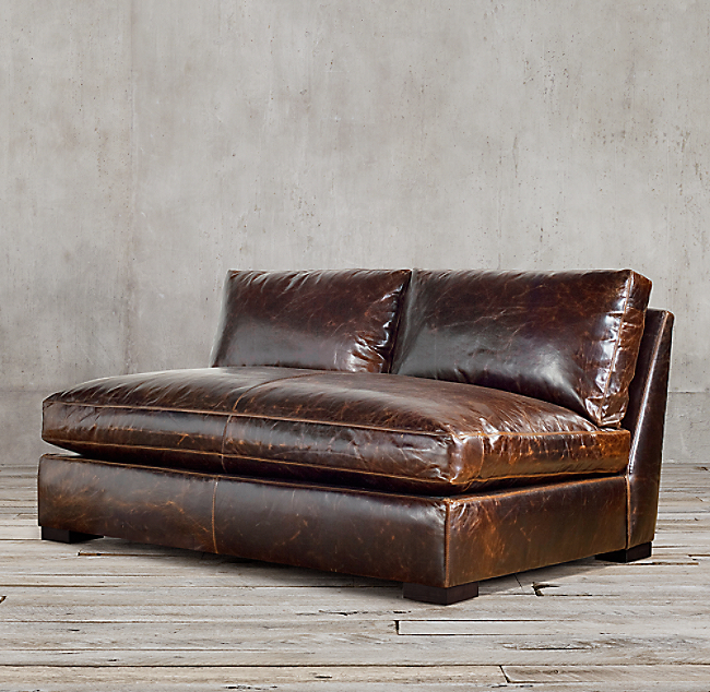 Armless Leather Sofa Armless Leather Sofa Foter Thesofa
