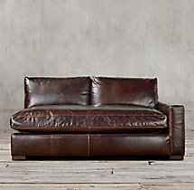 Petite Maxwell Leather Right-Arm Sofa