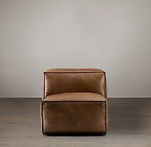 Fulham Leather Armless Chair
