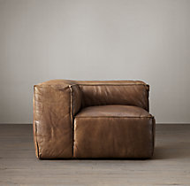 Fulham Leather Corner Chair