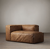 Fulham Leather Right-Arm Chaise