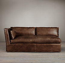 Belgian Shelter Arm Leather Left-Arm Sofa