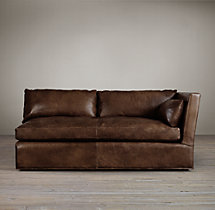 Belgian Shelter Arm Leather Right-Arm Sofa