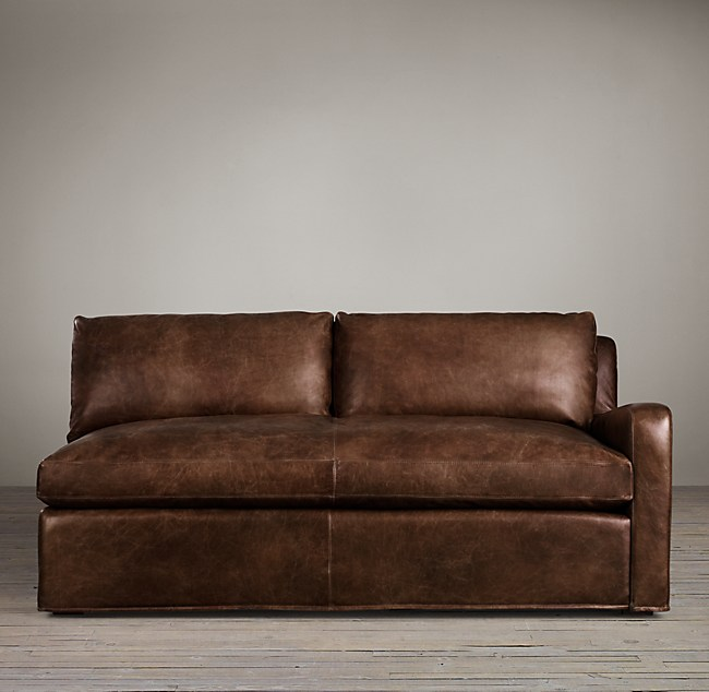 Belgian Slope Arm Leather Right Arm Sofa