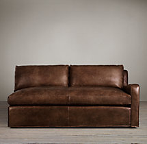 Belgian Slope Arm Leather Right-Arm Sofa