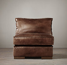 Capri Leather Armless Chair