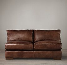 Capri Leather Armless Sofa