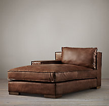 Capri Leather Left-Arm Chaise