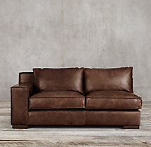Capri Leather Left-Arm Sofa