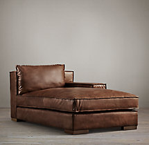 Capri Leather Right-Arm Chaise