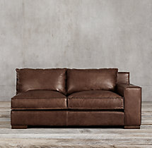 Capri Leather Right-Arm Sofa