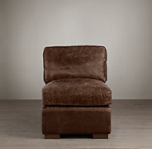Collins Leather Armless Chair Without Nailheads