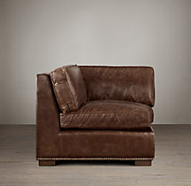 Collins Leather Corner Chair With Nailheads