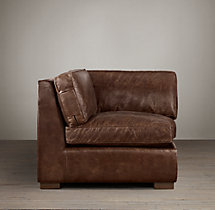 Collins Leather Corner Chair Without Nailheads
