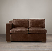 Collins Leather Left-Arm Sofa Without Nailheads