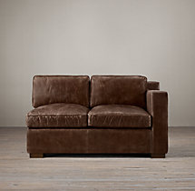 Collins Leather Right-Arm Sofa Without Nailheads