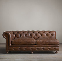 Kensington Leather Left-Arm Sofa