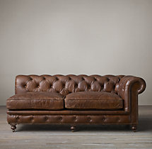Kensington Leather Right-Arm Sofa