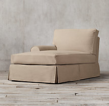 Grand-Scale Roll Arm Slipcovered Left-Arm Chaise