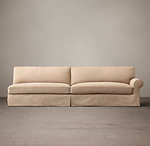 Grand-Scale Roll Arm Slipcovered Right-Arm Sofa
