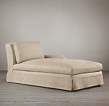 Belgian Classic Roll Arm Slipcovered Right-Arm Chaise