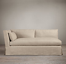 Belgian Shelter Arm Slipcovered Left-Arm Sofa