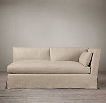 Belgian Shelter Arm Slipcovered Right-Arm Sofa