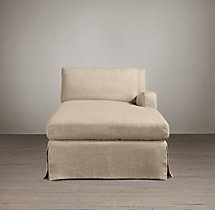 Belgian Slope Arm Slipcovered Right-Arm Chaise