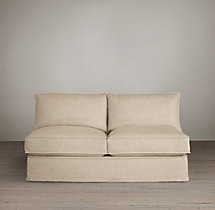 Capri Slipcovered Armless Sofa