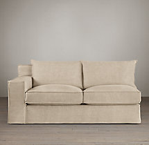 Capri Slipcovered Left-Arm Sofa