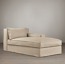 Capri Slipcovered Right-Arm Chaise