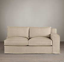 Capri Slipcovered Right-Arm Sofa