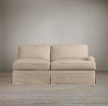 English Roll Arm Slipcovered Right-Arm Sofa