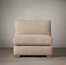 Grand-Scale Roll Arm Upholstered Armless Chair