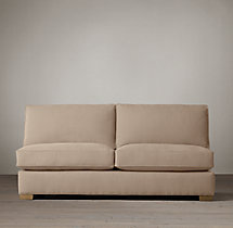 Grand-Scale Roll Arm Upholstered Armless Sofa
