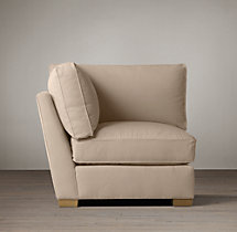 Grand-Scale Roll Arm Upholstered Corner Chair