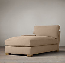 Grand-Scale Roll Arm Upholstered Left-Arm Chaise