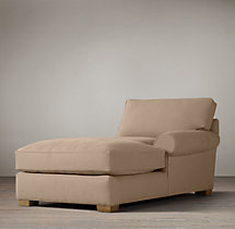 Grand-Scale Roll Arm Upholstered Right-Arm Chaise
