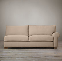 Grand-Scale Roll Arm Upholstered Right-Arm Sofa
