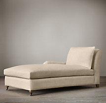 Belgian Classic Roll Arm Upholstered Left-Arm Chaise